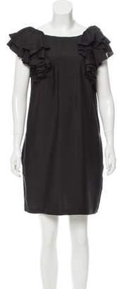 See by Chloe Ruffled Shoulder Mini Dress