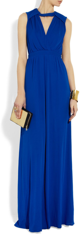 Issa Cutout crepe gown