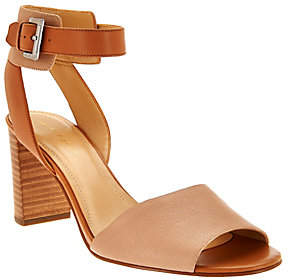Marc Fisher Leather Ankle Strap Sandals -Genette