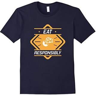 Junk Food Clothing Eat Mac N' Cheese Responsibly Addict T-Shirt