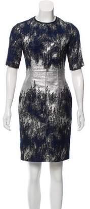 Yigal Azrouel Brocade Knee-Length Dress