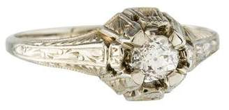18K Art Deco Diamond Engagement Ring