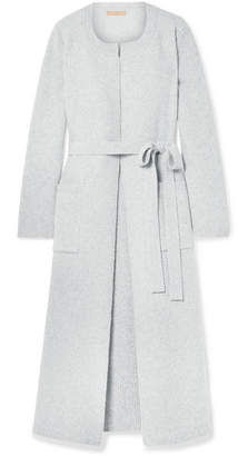 Brock Collection Koffi Ribbed Wool And Cashmere-blend Coat - Light gray