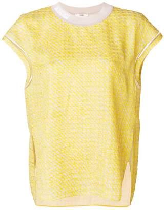 Fendi branded collar T-shirt