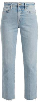 Frame Le Nouveau Straight Leg Jeans - Womens - Light Blue