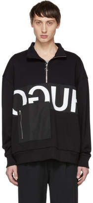 HUGO ブラック Darrius ジップアップ セーター