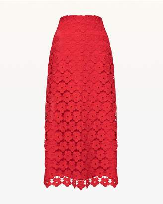 Juicy Couture Floral Guipure Lace Midi Skirt