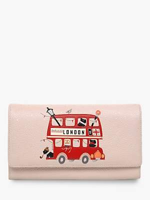 Radley Party Bus Leather Flapover Matinee Purse, Dove Grey