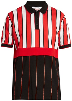 GIVENCHY Columbian-fit contrast-striped cotton polo shirt $515 thestylecure.com