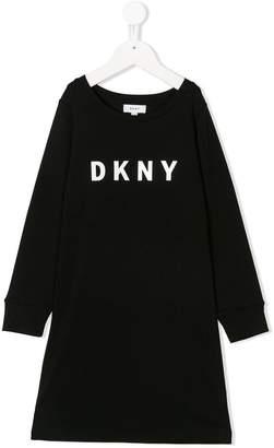 DKNY logo sweat dress