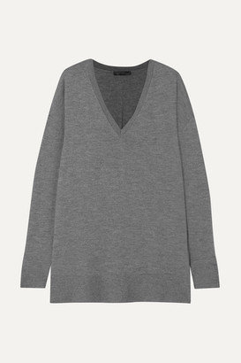 The Row Amherst Oversized Cashmere And Silk-blend Sweater - Gray