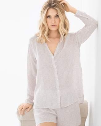 Hanro Lara Long Sleeve Pajama Top Oriental Print