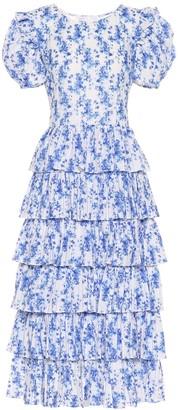 Caroline Constas Rose floral cotton midi dress