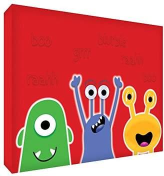 Keepsake Feel Good Art Block – Decorative Baby's, Design Monsters amistosos Grande - 15 x 21 x 2 cm red