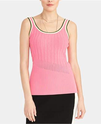 Rachel Roy Norma Mixed-Stitch Sleeveless Sweater