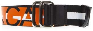 Dolce & Gabbana Black And Orange Logo Belt