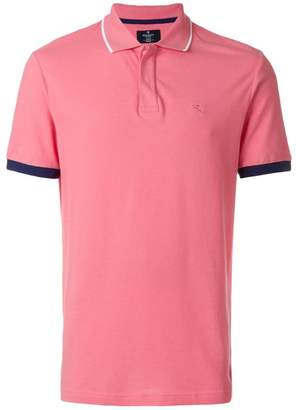 Hackett contrasting piping polo shirt