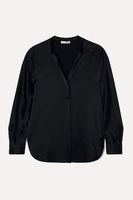 Vince Silk-satin Blouse - Black