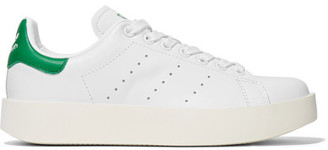 adidas Originals - Stan Smith Bold Leather Sneakers - White $110 thestylecure.com