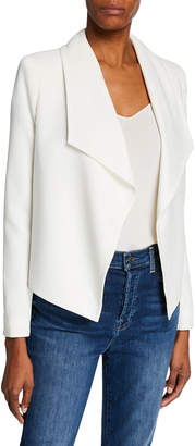 Modern American Designer Open-Front Drape Blazer