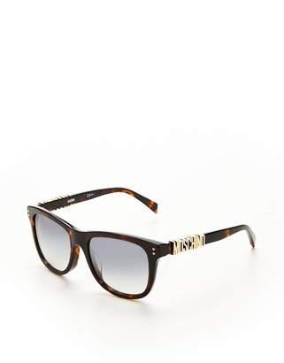 Moschino Logo Arm Sunglasses - Light Havana