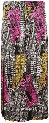 MSGM Graphic Print Long Skirt
