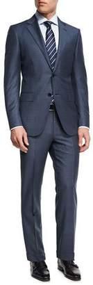 Ermenegildo Zegna Tonal Plaid Trofeo® Wool Two-Piece Suit, Slate Blue $2,995 thestylecure.com