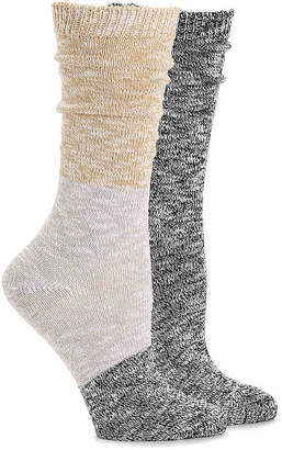 Steve Madden Colorblock Lurex Crew Socks - 2 Pack - Women's