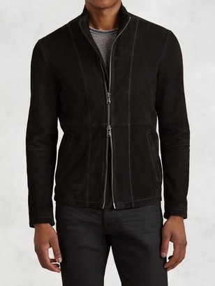 Bite Stitch Suede Jacket $798 thestylecure.com
