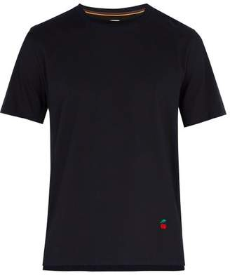 Paul Smith Cherry Embroidered Cotton T Shirt - Mens - Navy