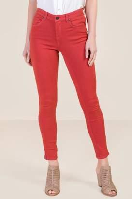 Harper Heritage Harper Mid Rise Zipper Ankle Rose Jeans - Cinnamon
