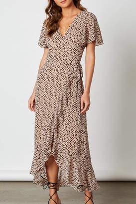 Cotton Candy Animal Print Wrap-Dress