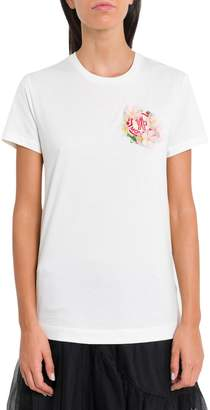 Simone Rocha Moncler Genius White T-shirt With Logo And Application