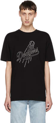 Marcelo Burlon County of Milan Black LA Dodgers T-Shirt