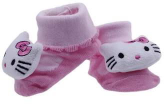 Hello Kitty EOZY Newborn Baby Indoor Anti-slip Socks Knitting Cartoon Shoes Prewalker Booties
