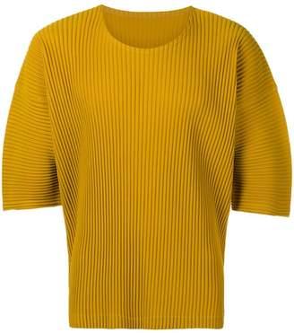 Issey Miyake Homme Plissé pleated oversized T-shirt