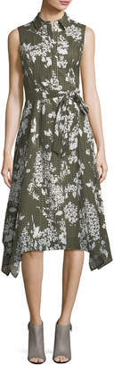 Lafayette 148 New York Moxie Exposed-Blooms Shirtdress