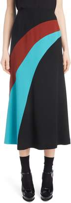 Dries Van Noten Curved Inset Midi Skirt