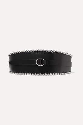 ac612c889589 Isabel Marant Kytoo Embellished Leather Waist Belt - Black