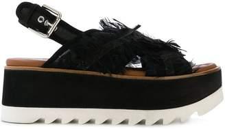 Premiata slingback platform sandals