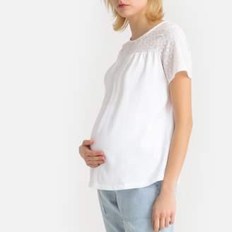 La Redoute MATERNITY Boat Neck Short-Sleeved Maternity T-Shirt