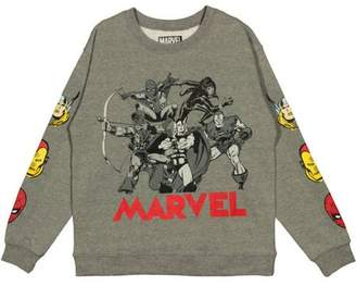 Marvel Comics Marvel Juniors' Graphic Sleeves Long Sleeve Sweatshirt
