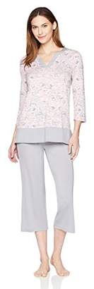 Arabella Women's Tunic and Cropped Pant Pajama Set