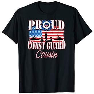 Proud Coast Guard Cousin USA Flag Shirt Men Women