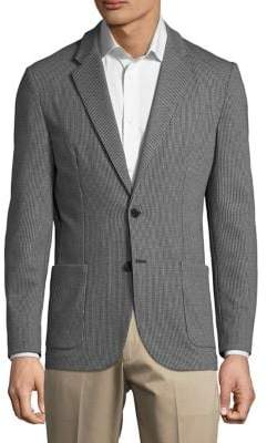 Karl Lagerfeld Paris Houndstooth Blazer Jacket