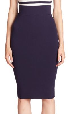 MILLY High-Waist Pencil Skirt $295 thestylecure.com