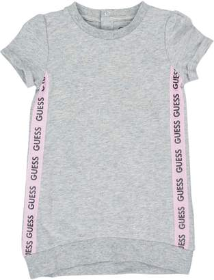 GUESS Little Girl's Metallic High-Low Cotton Blend Sweatshirt Dress