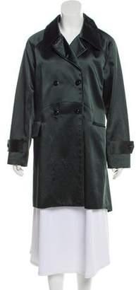 Maiyet 2016 Satin Notch-Lapel Trench Coat