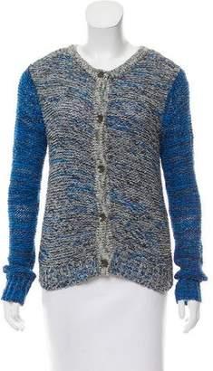 Rag & Bone Pattern-Knit Button-Up Cardigan