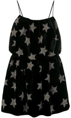 Saint Laurent star embellished mini dress